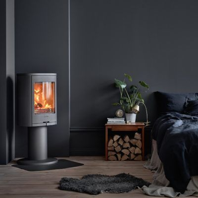 870 Grey Pillar Woodburning Stove