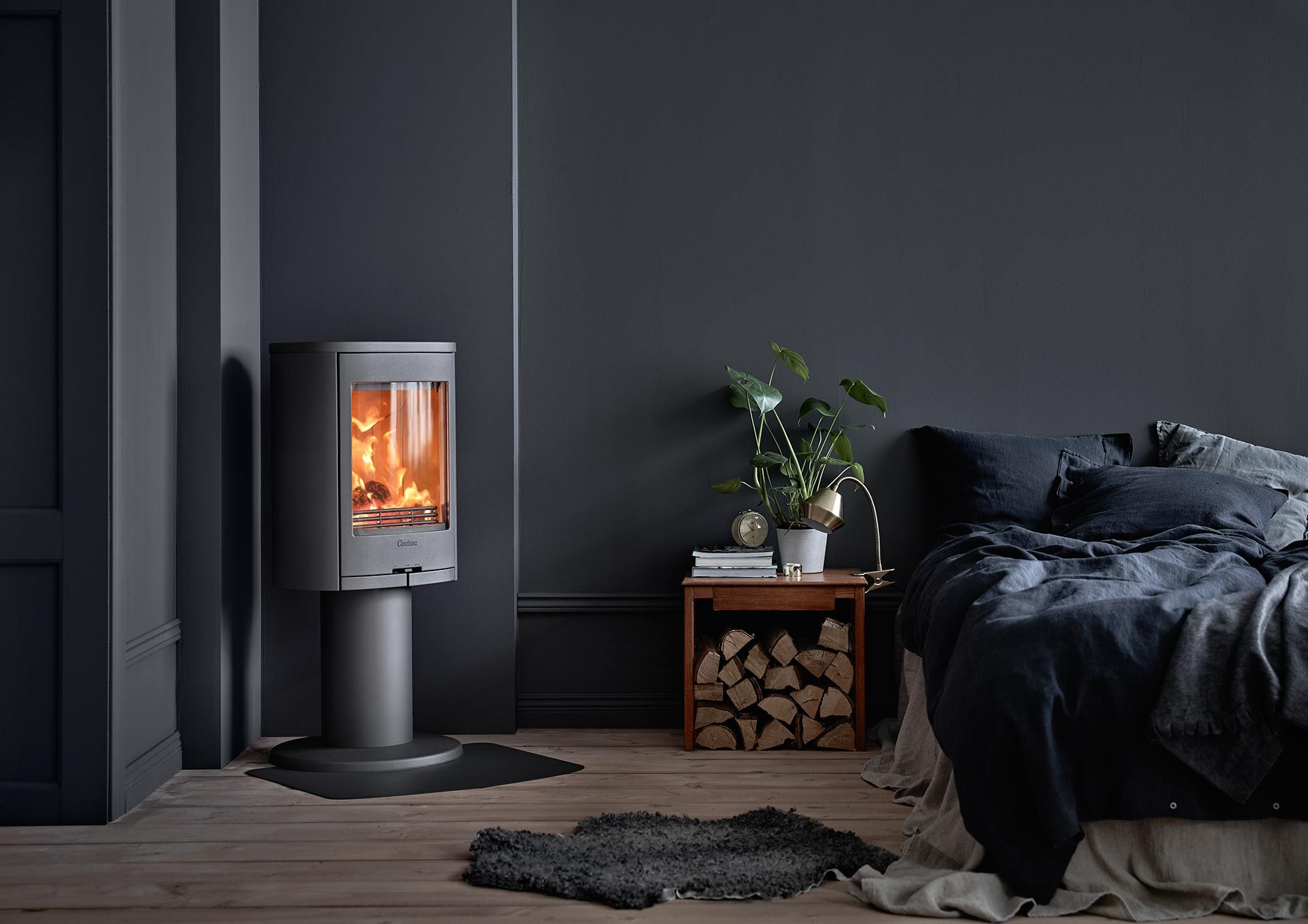 870 Grey Pillar Woodburning Stove