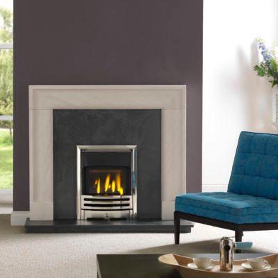 Arlington Portuguese Limestone Fireplace