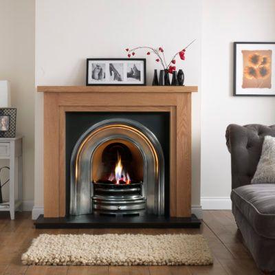 Calabria Natural Oak Fireplace