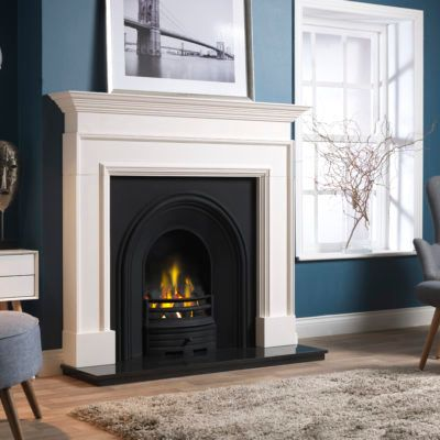 Cortese - Agean Limestone Fireplace
