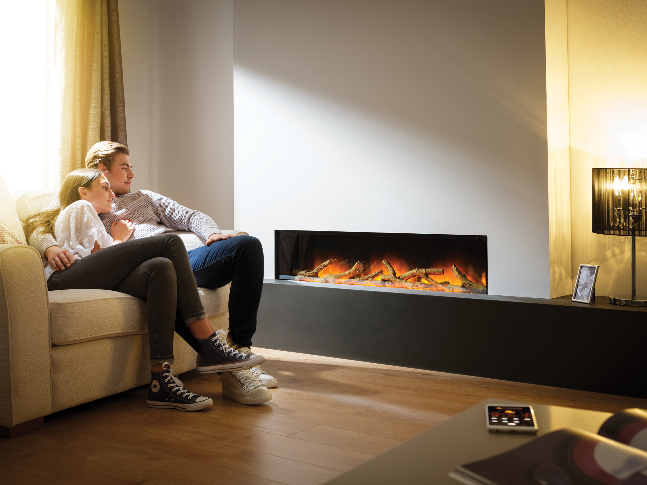 Gotham 1300 Electric Wall Mounted Fire
