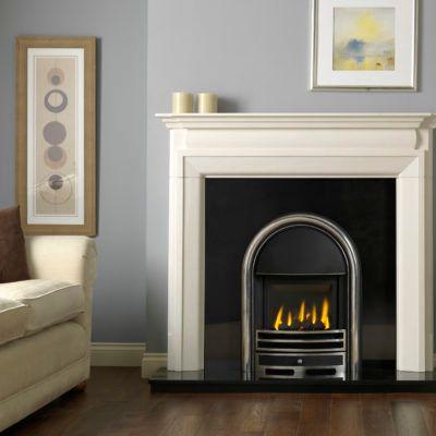 Luca Agean Limestone Fireplace