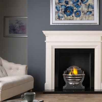 Teramo - Agean Limestone Fireplace