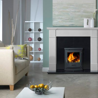Velletri Agean Classical Limestone Fireplace