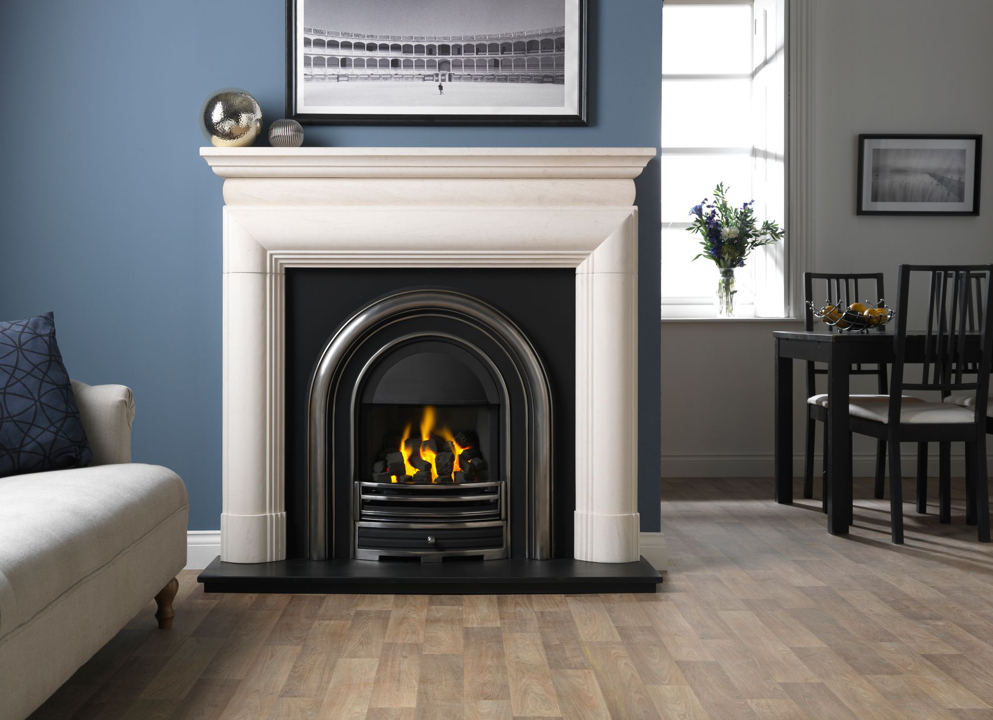 Vermont Limestone Fireplace Simply Fires