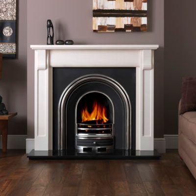 Verona Agean Limestone Fireplace