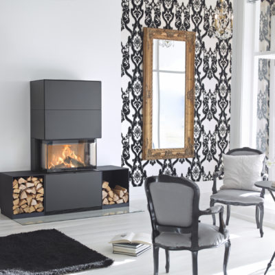 Contura i51 Black Steel Fireplace
