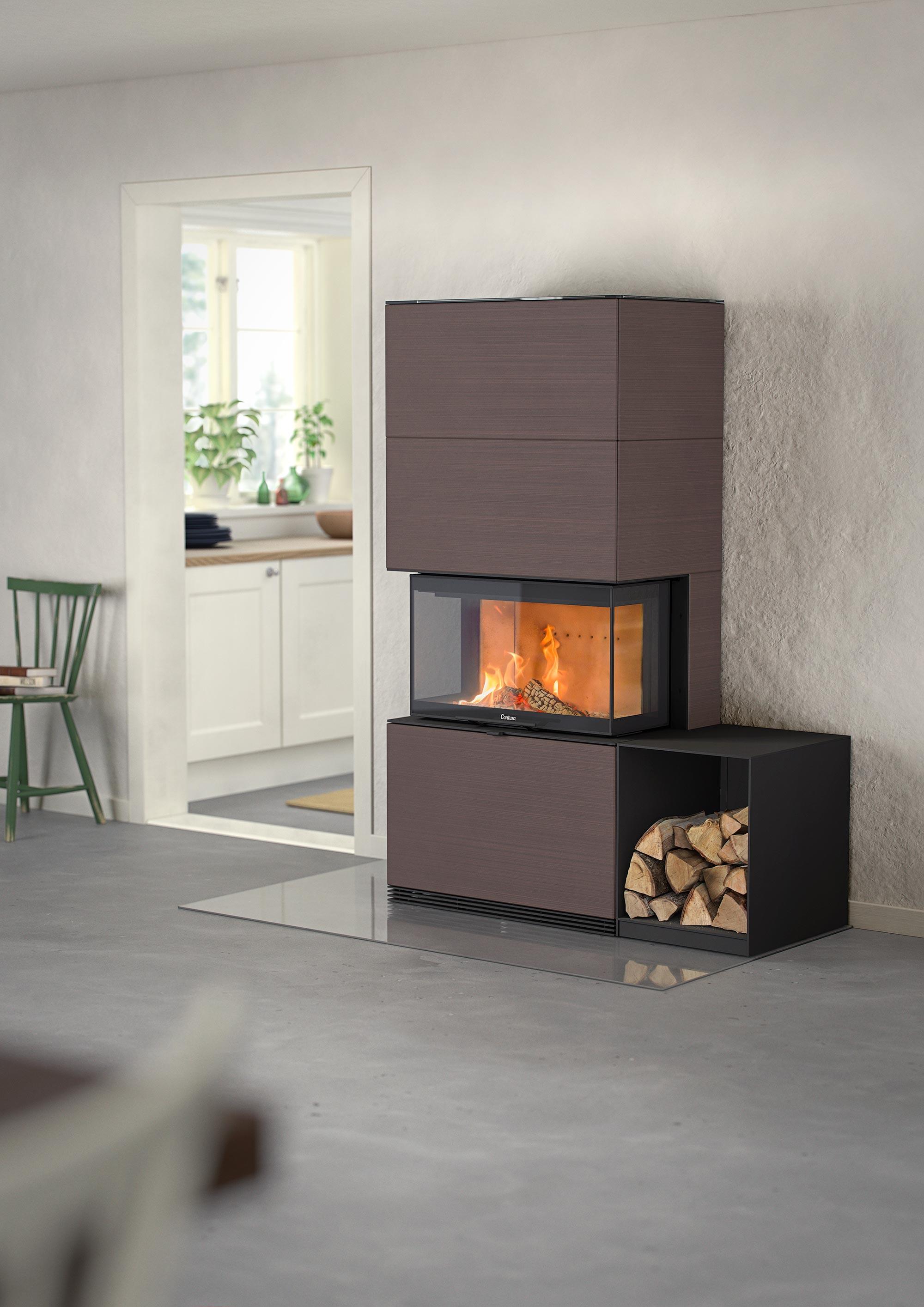 Contura i51 Sandstone Fireplace