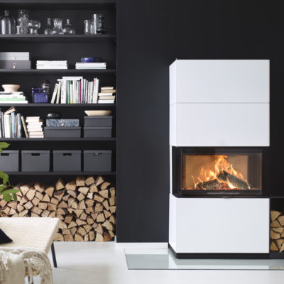 Contura i51 White Fireplace